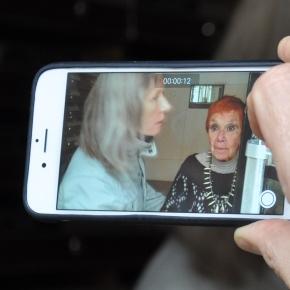 Dominique pendant ses entretiens avec Isabel à Paris
