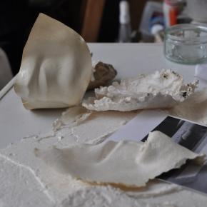 Détails de pièces utlisées pour les sculptures papier - Atelier de Paris