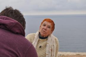 Damien Dechavanne filmant Isabel - La Mola, Formentera
