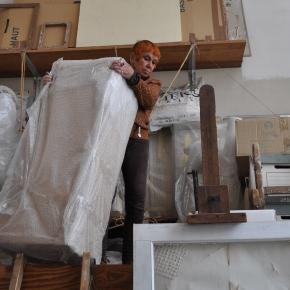 Isabel dans l'atelier de Paris