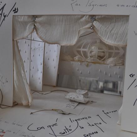 Teatro de lagrimas avec Fernando Arrabal Référence: IE 2016 DD #0041 1995 Livre objet dans emboitage en carton de l'artiste, signé Echarri et Arrabal 50 x 40 x 8 cm (à vue) Collection de l'artiste - Disponible