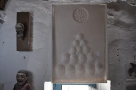 Divergences Référence: IE 2016 DD #1003 Circa 1970 Sculpture papier dans cadre plexiglass 56 x 38,5 x 4 cm Collection de l'artiste - Disponible