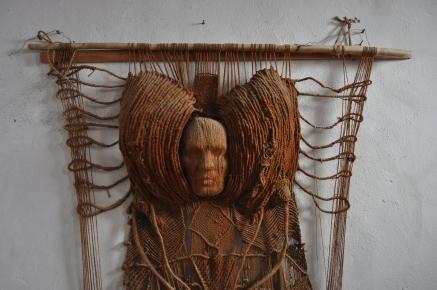 Sans titre Référence: IE 2016 DD #1007 Années 70 Sculpture tissage 194 x 133 Collection de l'artiste - Disponible